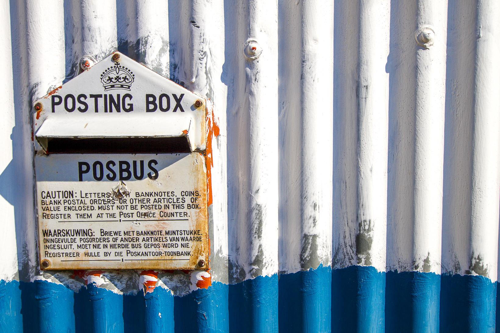 Postbox, Around Mokhotlong, Lesotho