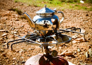 Un thé sur la route au Maroc