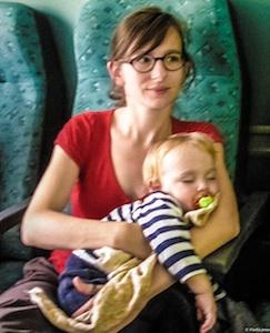 Dans le train vers Split, Croatie