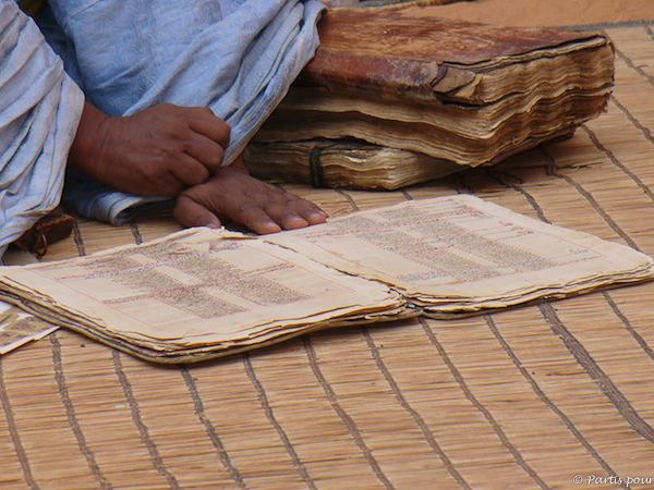 Manuscrit d'une bibliothèque de Chinguetti, Mauritanie