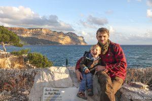 Sur la Calanque de Port-Miou, du côté de Cassis, sentier du Petit Prince. Marseille avec un enfant