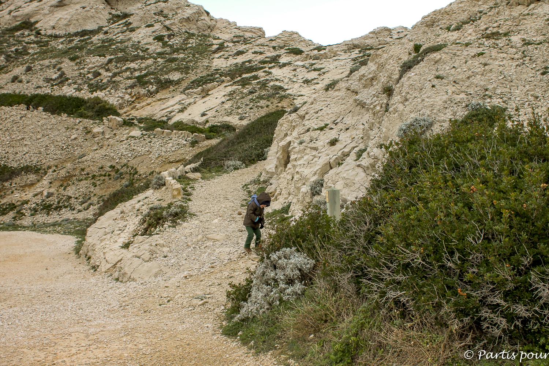 Pomègues, île du Frioul. Marseille avec un enfant
