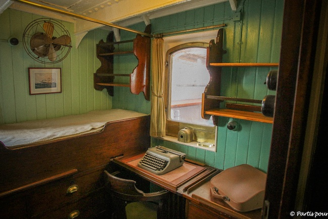 Intérieur d'une cabine du Mercator, Ostende