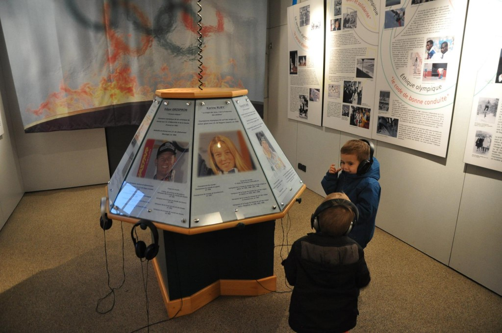 Musée avec un enfant JO Albertville Les Aventures d'Arthur et Thibaut
