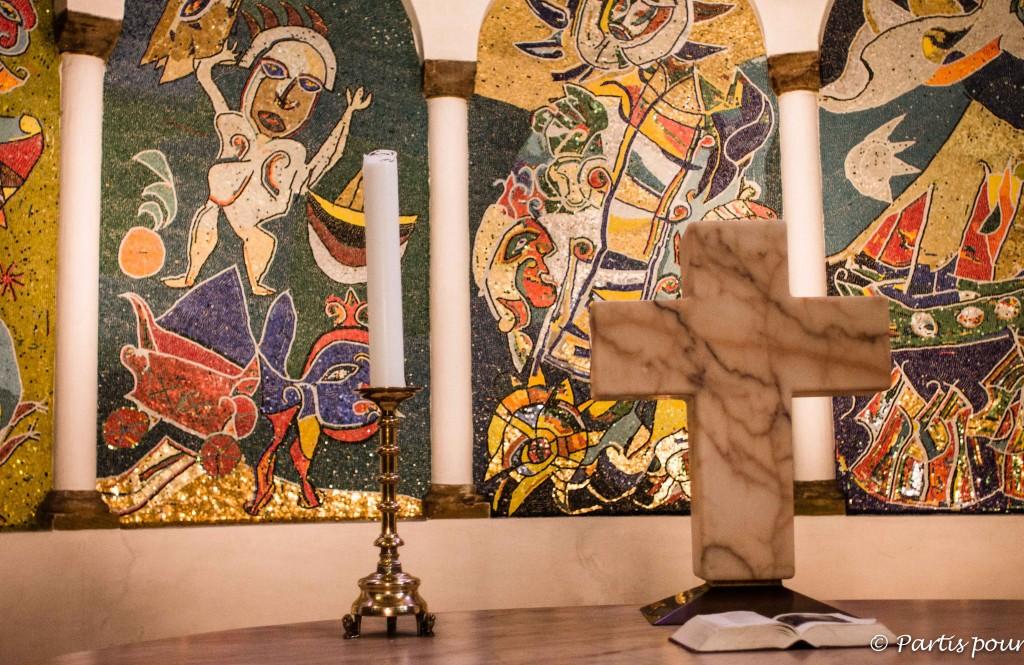 Mosaïque Carl-Henning Pedersen, cathédrale de Ribe, Danemark
