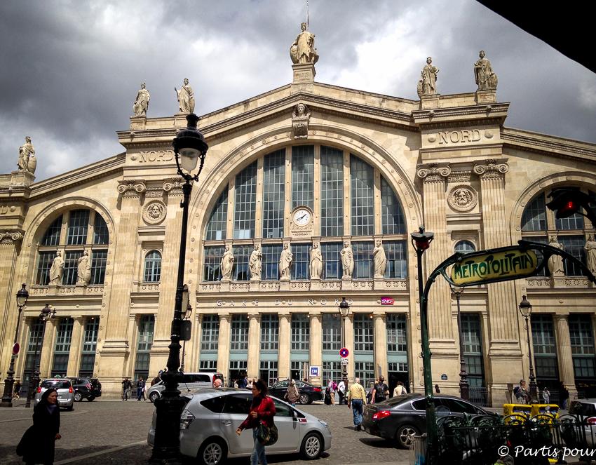 Petits plaisirs Mai. Gare du Nord en attendant le Thalys qui me ramènera en Belgique.