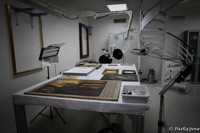 Atelier de restauration Musée National d'Art de Catalogne Barcelone