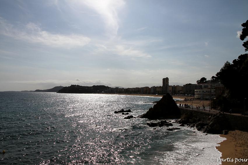 Coucher de soleil sur Lloret de Mar Costa Brava