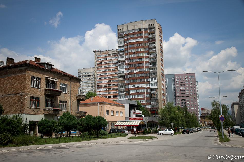 Dans notre quartier à Malta, Novo Sarajevo, Bosnie-Herzégovine
