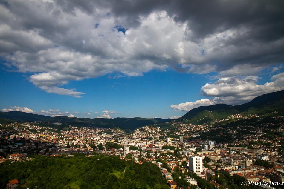 Vue sur Sarajevo, Bosnie-Herzégovine