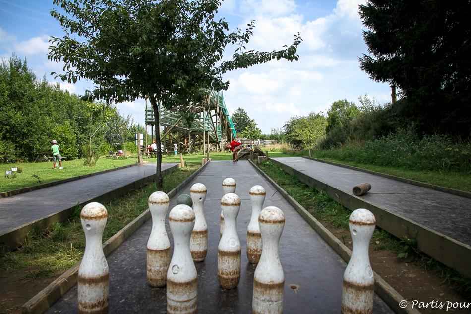 Bowling extérieur. Parc de l'O Vive, Dochamps. Activités Durbuy et environs