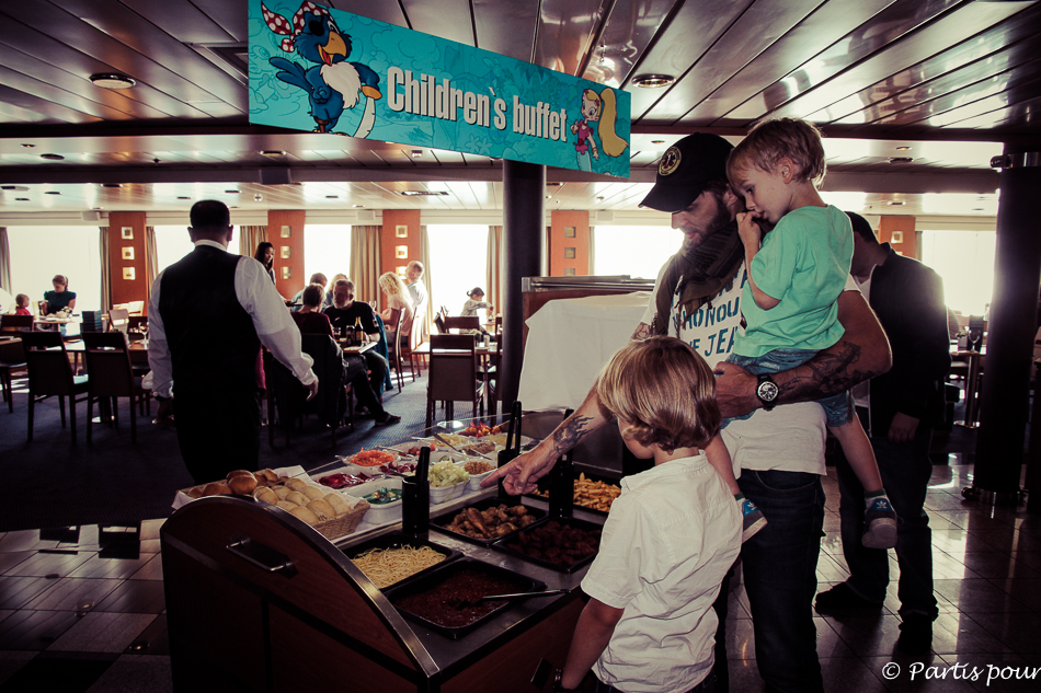 Buffet enfant, Traversée Amsterdam - Newcastle, DFDS Seaways