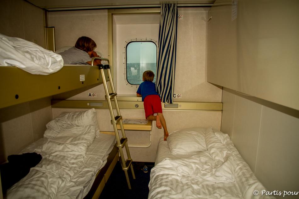 Cabine, Traversée Amsterdam - Newcastle, DFDS Seaways