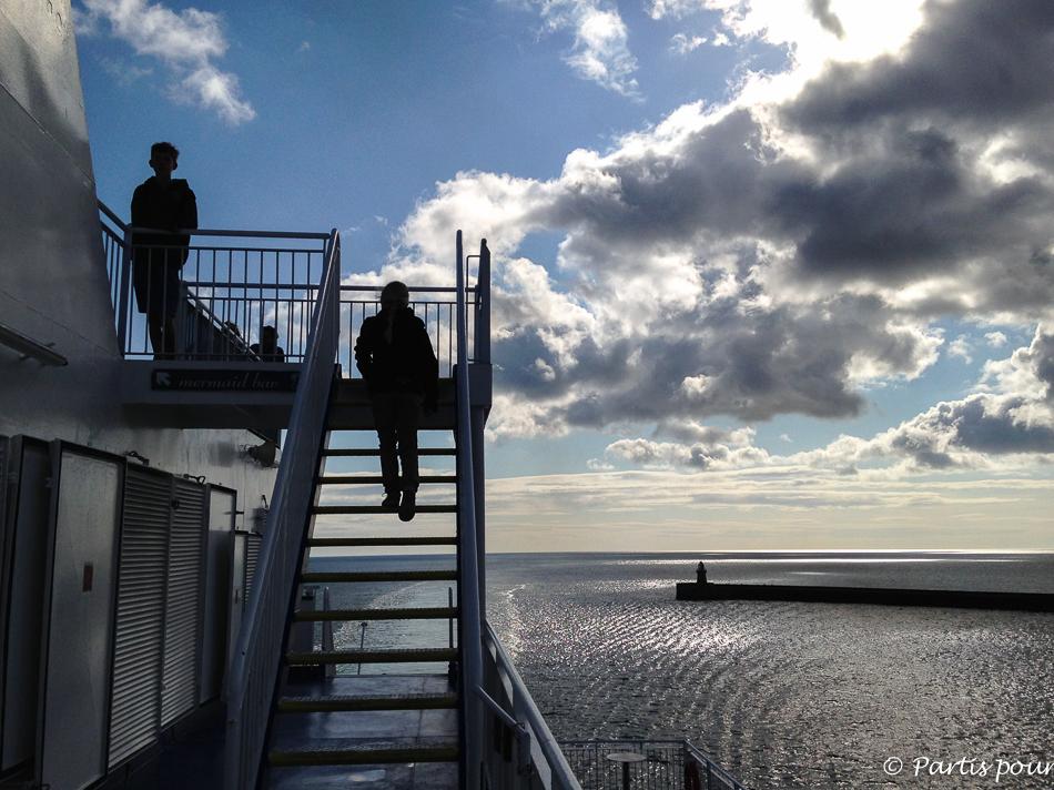 Arrivée à Newcastle, Traversée Amsterdam - Newcastle, DFDS Seaways