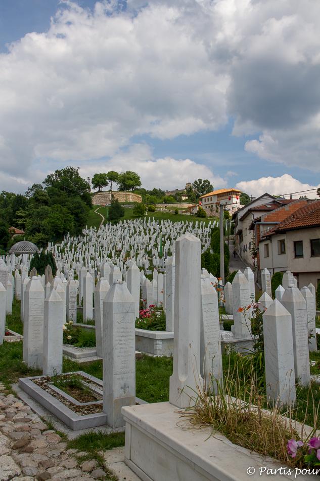 Vue sur la Zuta Tabija, le Bastion jaune. Trois semaines à Sarajevo