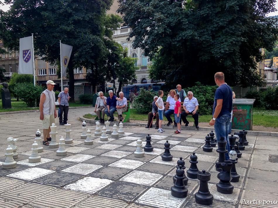 Les joueurs d'échecs. Trois semaines à Sarajevo