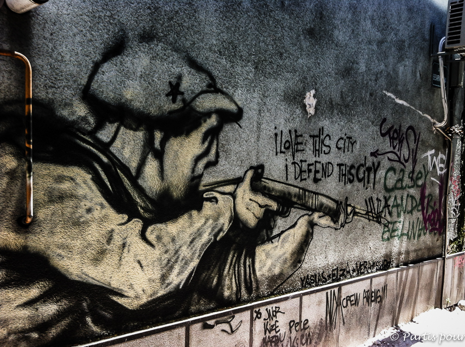 Dans les rues de Sarajevo. Sarajevo, un autre regard