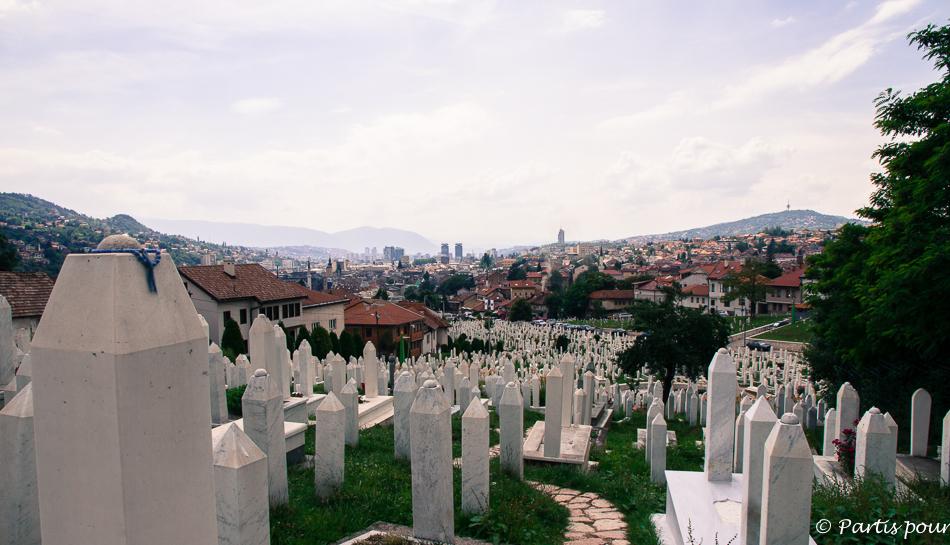 Cimetière de Kovaci. Découvrir Sarajevo avec un enfant