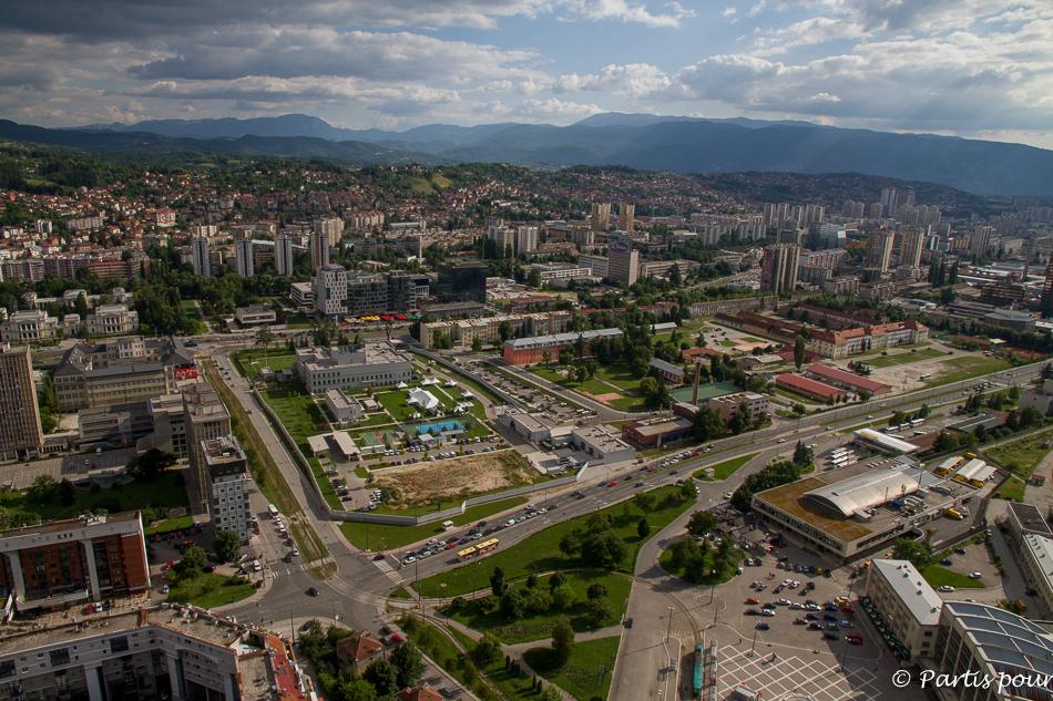 Panorama depuis la Tour Avaz... Découvrir Sarajevo avec un enfant