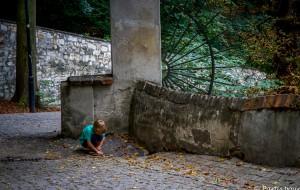 Prague avec un enfant.