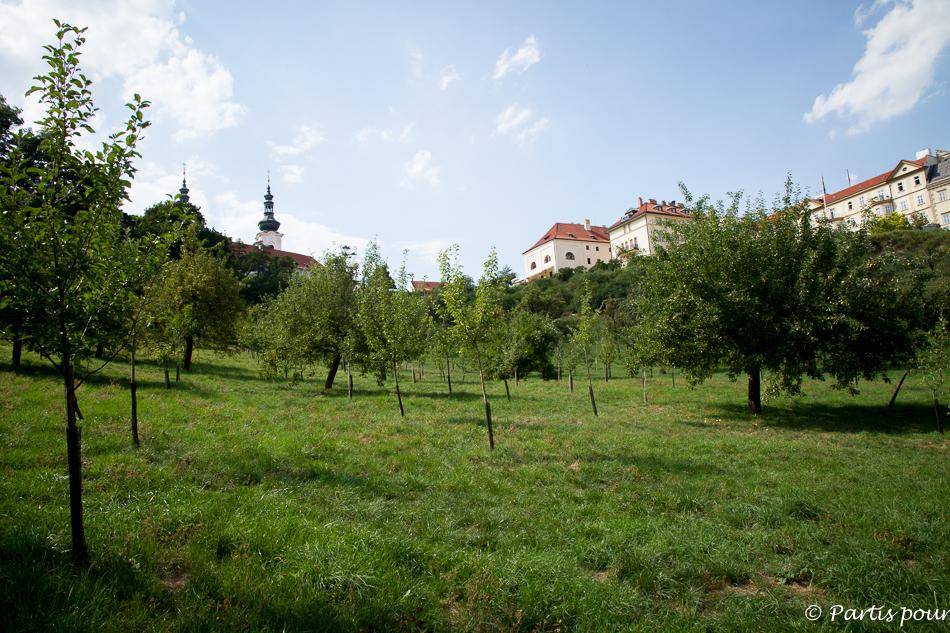 Les vergers de Petrin. Prague avec un enfant