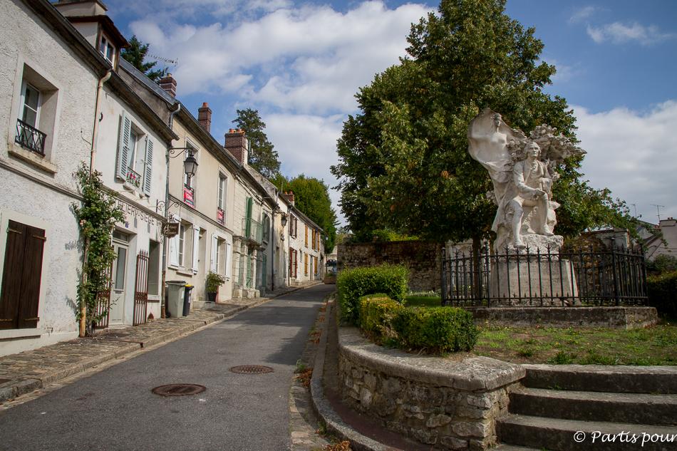 Ermenonville, statue de Jean-Jacques Rousseau