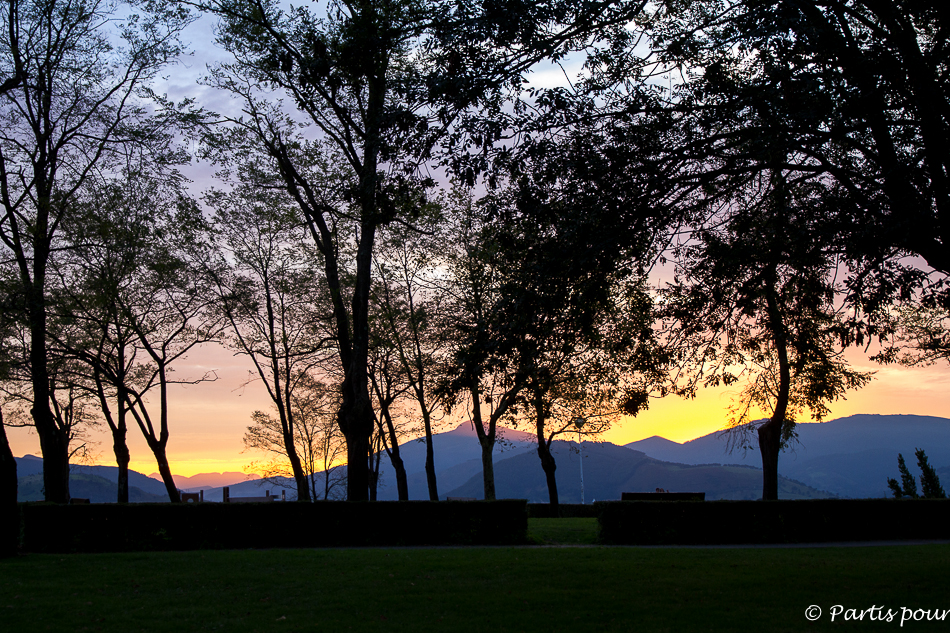 Coucher de soleil à Artxanda à Bilbao