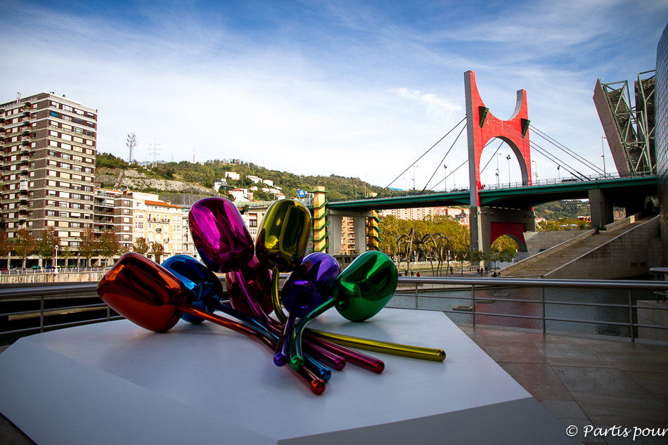 Tulipes de Jeff Koons au Guggenheim Museum à Bilbao