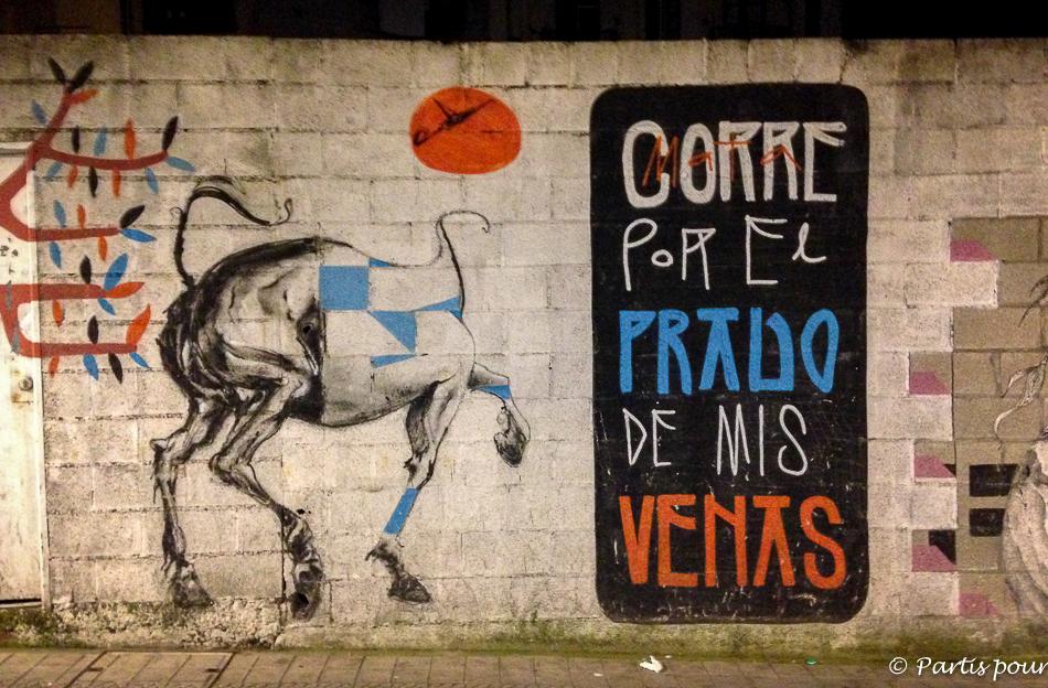 Graffiti dans les rues de San Francisco à Bilbao