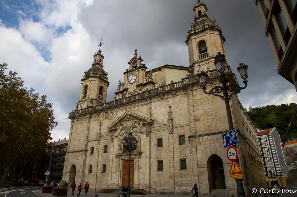 Eglise Saint-Nicolas à l'entrée du Casco Viejo à Bilbao