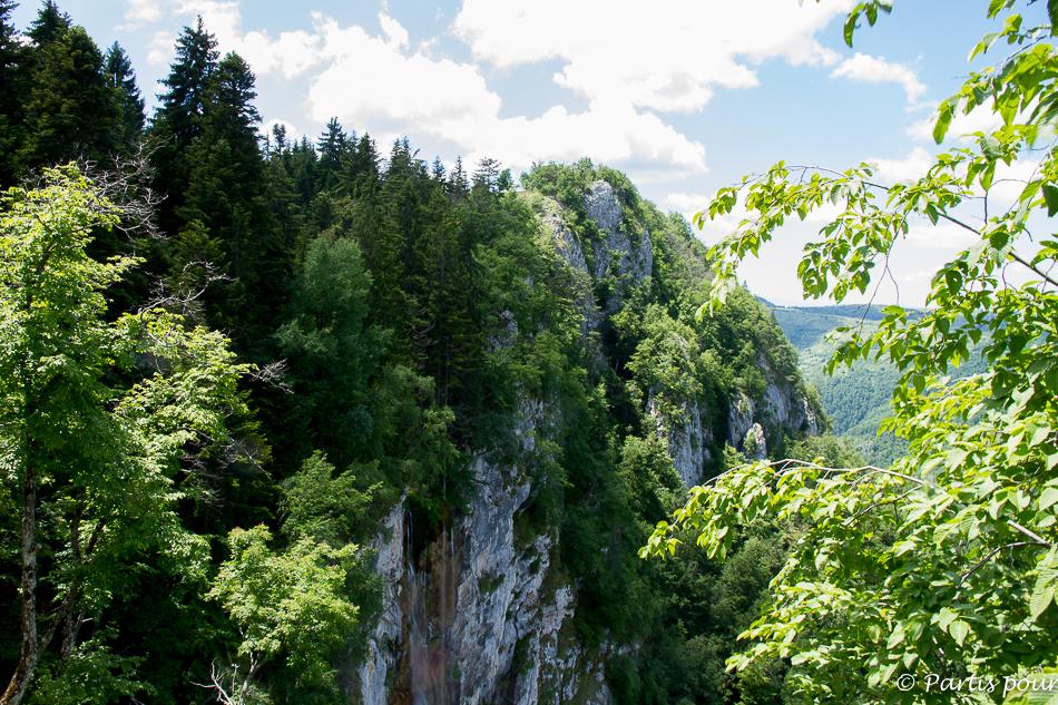 Cascade de Skakavac vue d'en haut. Sortir de Sarajevo