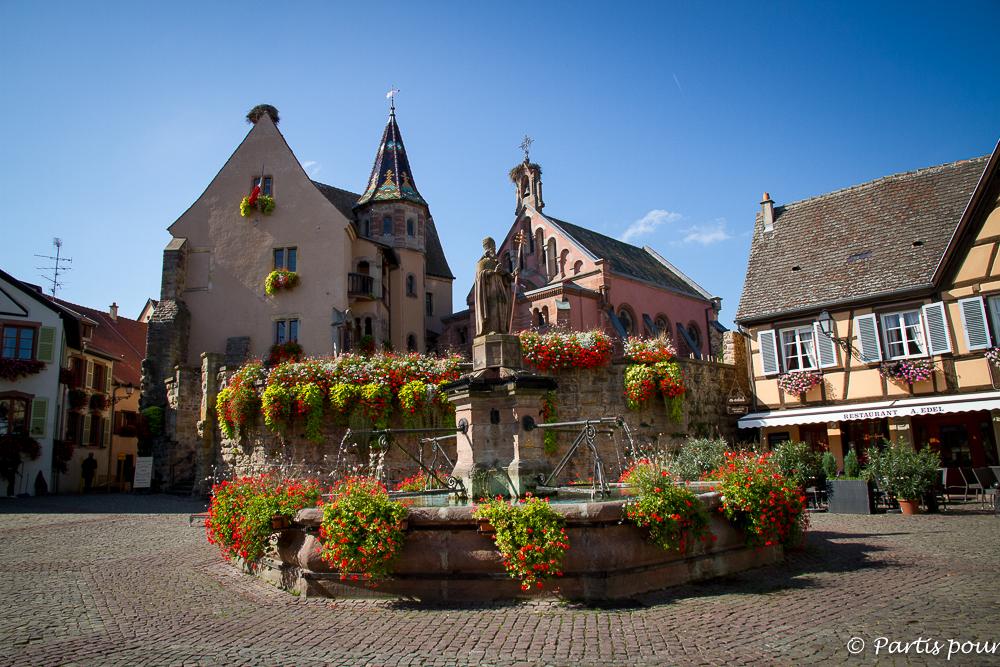 Eguisheim. En Alsace avec un enfant...