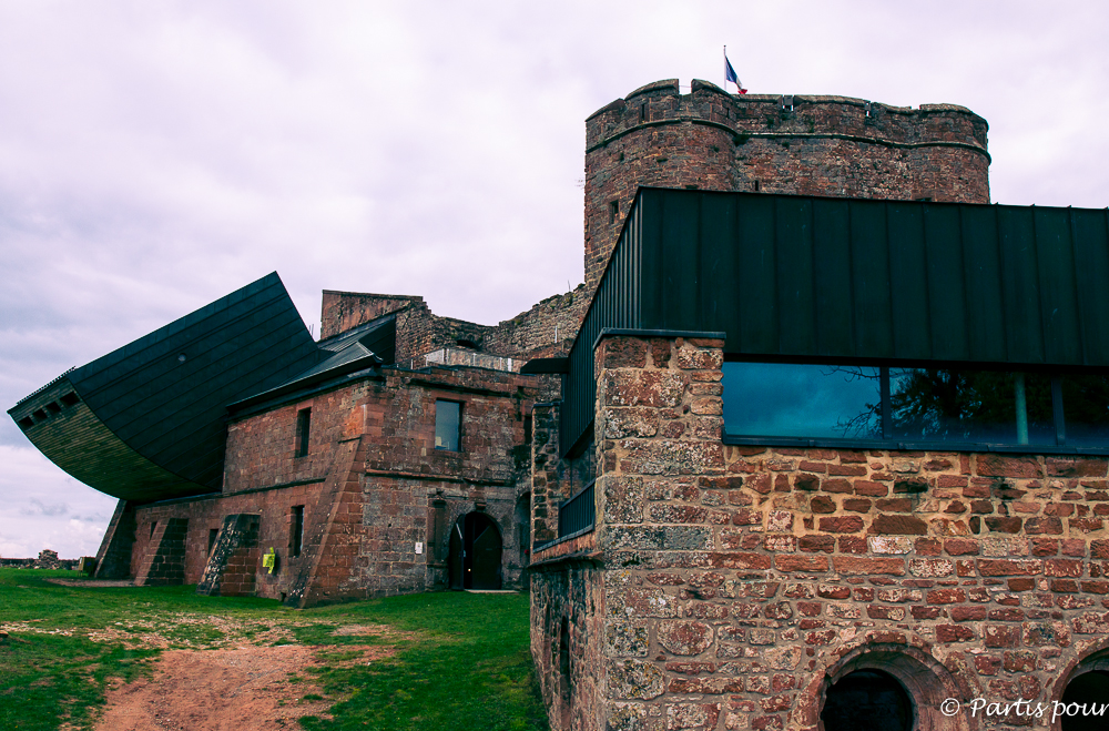 Château de Lichtenberg. L'Alsace avec un enfant