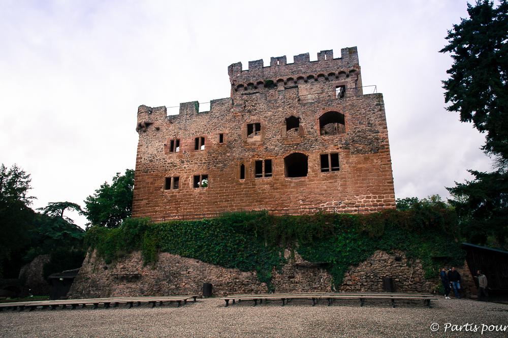 Le château de Kintzheim où se trouve la Volerie des Aigles. Que faire en Alsace en famille ?