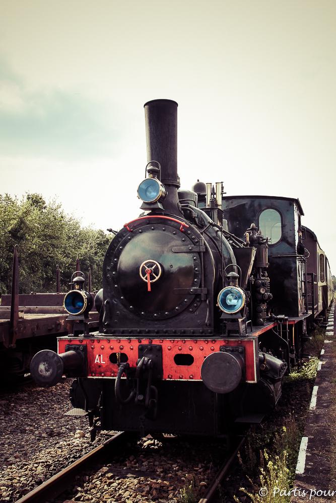 Chemin de fer touristique du Rhin à Volgelsheim. L'alsace avec un enfant
