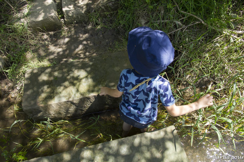 SensoRied. L'Alsace en famille sur le sentier pieds nus de la Maison de la Nature de Muttersholtz
