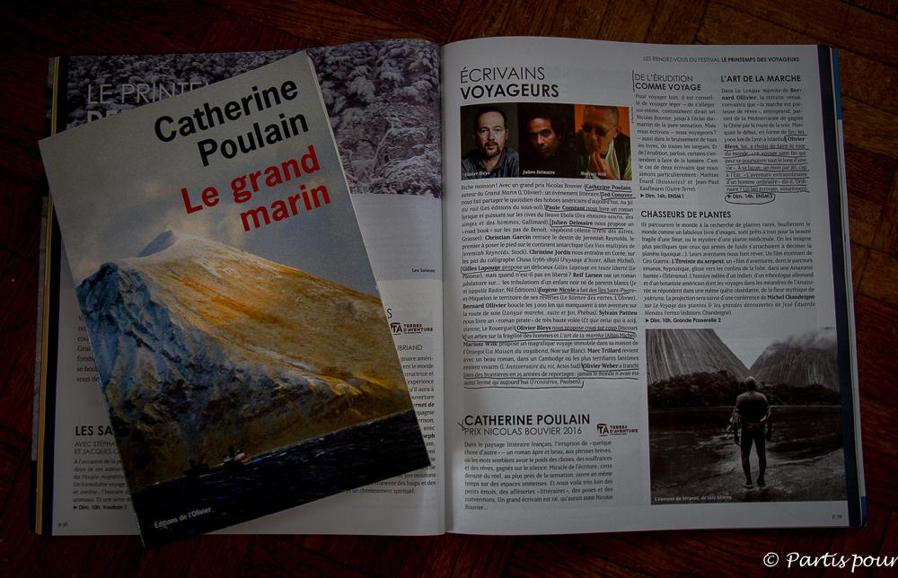 Le Grand Marin, Catherine Poulain. Donner du sens au voyage