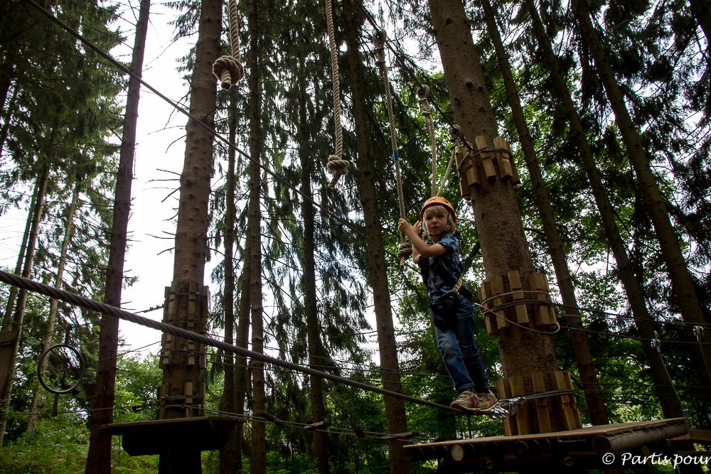 Parcours aventure enfant à Forestia. La Province de Liège en famille