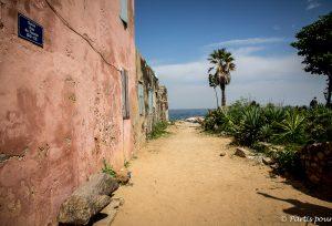 Gorée. Dakar avec un enfant