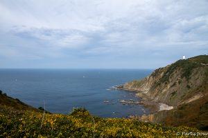 Vue sur le phare de Gorliz. Pays-Basque, Espagne