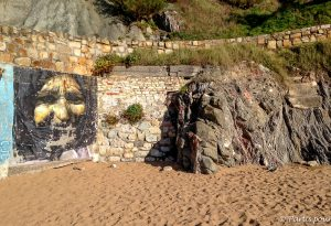 Sur la plage de Sopelana au Pays-Basque espagnol