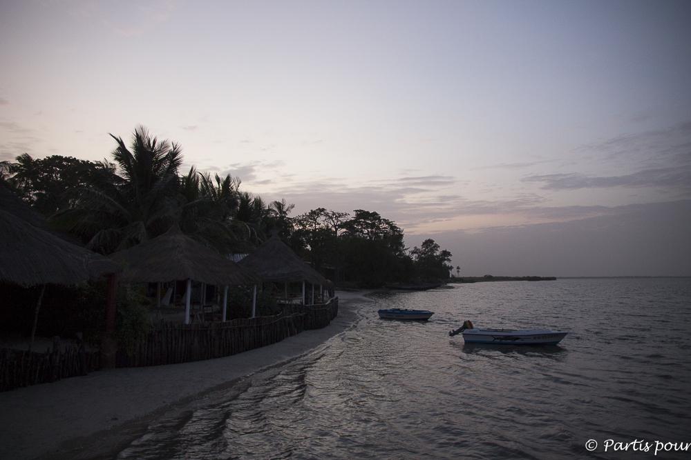 Premier coucher de soleil à Cachouane, Casamance, Sénégal