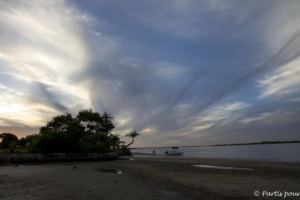Encore un coucher de soleil sur Cachouane, Casamance, Sénégal