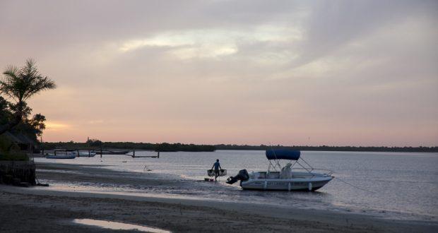 Coucher de soleil sur Cachouane, Casamance