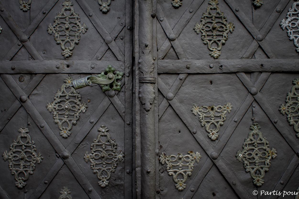 Détail d'un porche d'une église de Litomerice, République tchèque