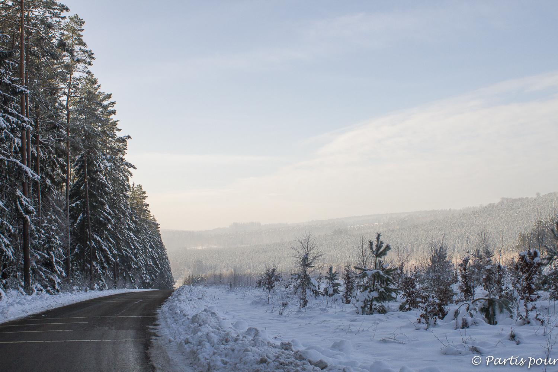 Janvier du côté de Lavacherie, Province du Luxembourg, Belgique. Bilan d'une année de vie nomade