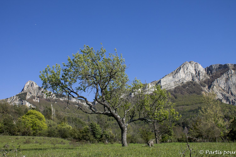 Archail, Alpes de Haute-Provence, France. Une année de vie nomade