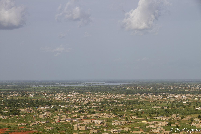 Vue sur le Niger, Bamako, Mali. Bilan vie nomade