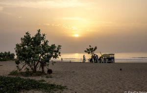 Coucher de soleil sur la senegambia beach, Bijilo, Gambie