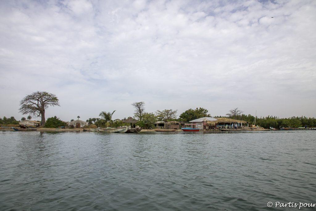 Fleuve Allahein, frontière entre le Sénégal et la Gambie, de Niafourang à Kartong